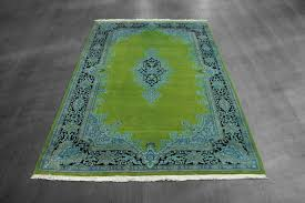blue and lime green rug on grey floor with area rugs also interior fun in color wool s western plush for living room rustic dining