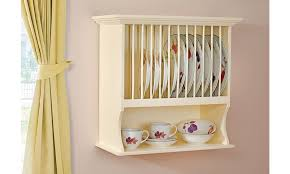 country kitchen wall plate rack