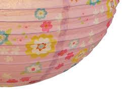 Blümchen Kugel Rosa Lampenschirm Kinderzimmer Lampion Papier