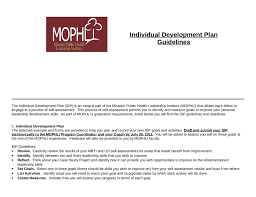 individual development plan examples self development plan forest jovenesambientecas co