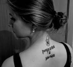 татуировки с надписями Just For Us Girls At дневники