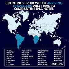 The 33 high risk countries where new rules apply. Uk Quarantine List Where Are Red List Countries How Long Will Mandatory Quarantine Last Travel News Travel Express Co Uk