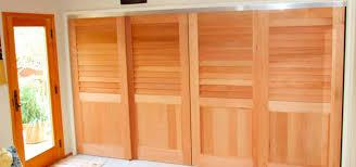 california fixed louver over flat panel sliding closet doors