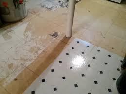 basement floor paintNoSlip Painted Vinyl Floor