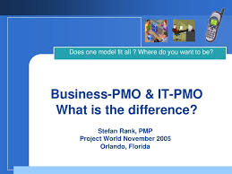 business pmo it pmo what is the difference pmo responsibilities
