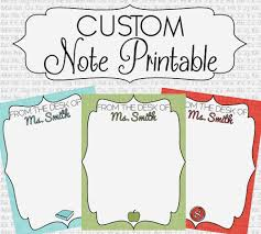 ð zoom personalized stationary note printables from the desk of
