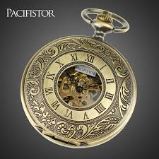 online get cheap mens pocket watches for aliexpress com pacifistor pocket watches men stainless steel case classic steampunk wind up vintage mechanical watches relojes hot