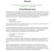 Philosophy Writing Paper How To Write A Philosophy Paper And