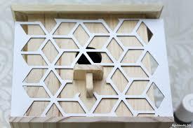Diy Birdhouse Diy Stenciled Bird House Pinkwhen