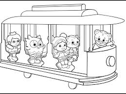 Cool Coloring Book Daniel Tiger And His Friends Page Free Printable
