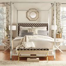 Chelsea Lane Bromley Moroccan Print Upholstered Canopy Bed - Walmart.com