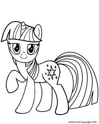 Disegni Da Colorare Degli Unicorni Con Mini Pony Stellato Disegno