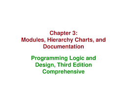 Hierarchy Chart In Programming Ppt Chapter 3 Modules Hierarchy Charts And