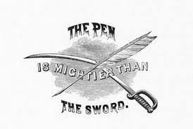 answer the question being asked about pen mightier than sword essay a writer who records his noble thoughts is a teacher of humanity