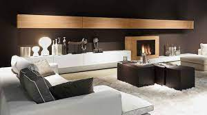wall unit with fireplace presotto