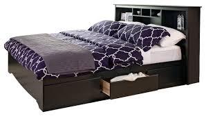 Prepac Black Sonoma King Bookcase Platform Storage Bed transitional-platform -beds