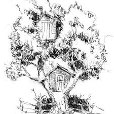 Small Picture Kids Drawing of a Treehouse Coloring Page Color Luna