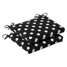 com pillow perfect indoor outdoor black white polka dot seat cushion squared 2 pack home kitchen
