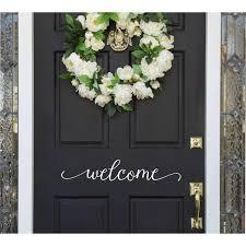 Door Vinyl Design Welcome Door Vinyl Decal Products In 2019 Door Stickers