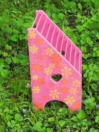 Pink Magazine Holder Retro Vintage Wooden Magazine Rack Pink Orange by SquirmysMommy 55