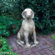 setter dog statue garden ornament