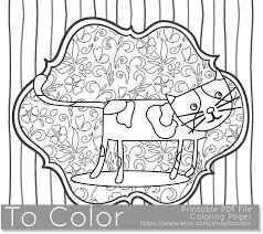 Small Picture Printable Whimsical Cat Coloring Page For Adults Pdf Jpg Coloring