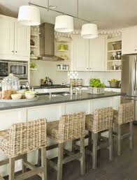 Kitchen Island With Chairs Marble Brchairs Sheepskins Airy Pendants