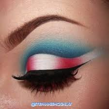 red white and blue eyeshadow