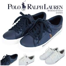 polo ralph lauren polo ralph lauren sneakers white dark blue synthetic leather pony embroidery easten