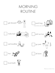 Daily Routine Printable Our Morning Routine Chart Free Printable Winter Daisy