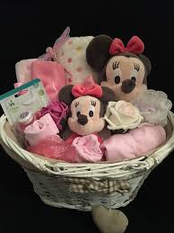luxury minnie mouse gift basket for baby shower