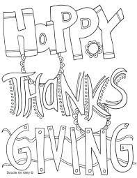 Happy Thanksgiving Color Pages Contentparkco