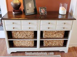 dresser with basket drawers. Vintage Dresser Turned Pottery Barn Style Storage Revival Southern Revivals For With Basket Drawers