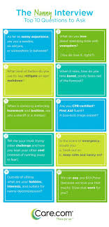 Ask Nanny Development Chart The 10 Questions To Ask Your Nanny Nanny Activities Nanny