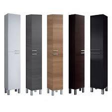 bathroom storage cabinets. Baltic Tall Bathroom Storage Cabinet Cupboard Black White Oak Furniture Unit Cabinets