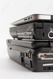 Comparing Of Ports Of Laptops New Modern And Old Laptop Present