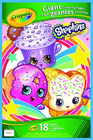 Amazoncom Crayola Shopkins Giant Coloring Pages Toys Games