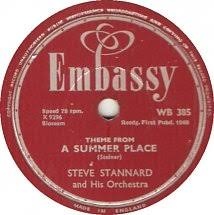 78 rpm steve stard theme from a summer place what in the world s e over you emby uk wb 385