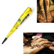1pcs indian henna paste cone beauty women mehndi finger cream paint diy temporary drawing for