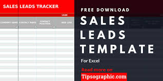 Tracking Sales In Excel Sales Lead Template For Excel Free Download Tipsographic