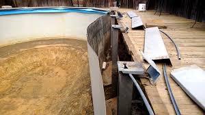 above ground pool wall repair. Interesting Above How To Repair An Above Ground Swimming Pool Cave In Video 1 Of 4 To Above Ground Pool Wall Repair R