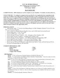 Professional Athlete Resume Example Athlete Resumes Professional athlete Resume 2