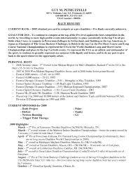 Professional Athlete Resume Example Athlete Resumes Professional athlete Resume 1
