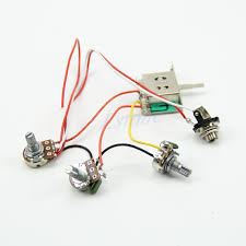 guitar wiring harness pickup 1v2t 5 way switch 500k pots jack for guitar wiring harness pickup 1v2t 5 way switch 500k pots jack for fender strat