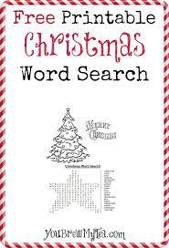 Free Printable Christmas Word Search -