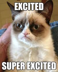 excited super excited - Grumpy Cat - quickmeme via Relatably.com