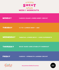 A Fitness Plan Summer Sweat Series Fitness Plan Week 1 Heres 5 Workouts To Get