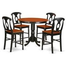 for solid wood five piece counter height table and chair set get free
