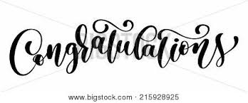 Congratulations Poster Congratulations Calligraphy Lettering Text Card With