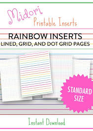Because Rainbows Midori Tn Insert Printable Rainbow Grid Dot
